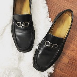 Salvatore Ferragamo $595 David bit leather loafer